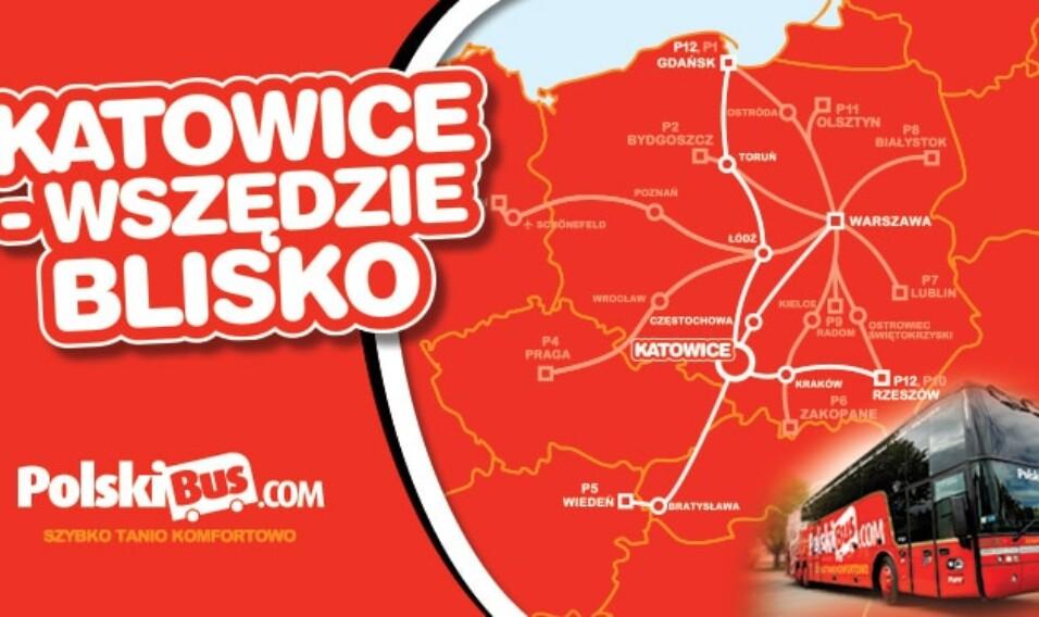 """""""Katowice – wszędzie blisko"""". Ze stolicy Śląska razem z PolskiBus.com do 7 polskich miast"""