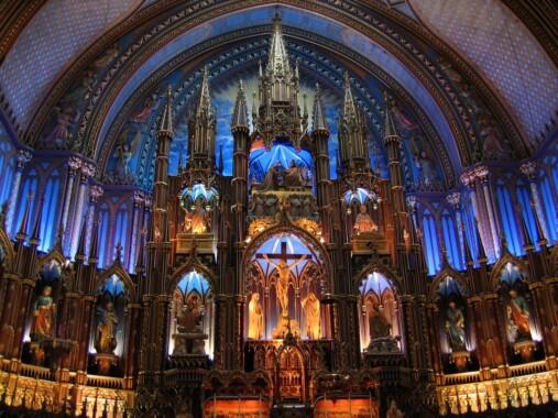 Ołtarz główny w Bazylice Notre-Dame w Montrealu