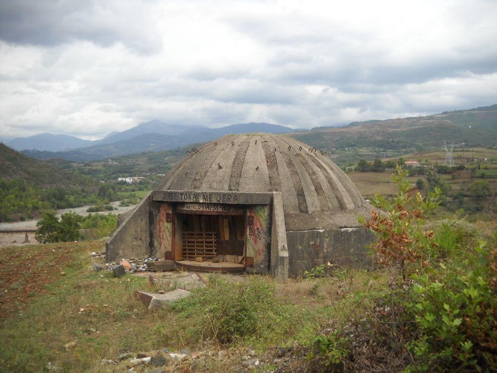 Bunkier w rejonie granicy z Macedonią