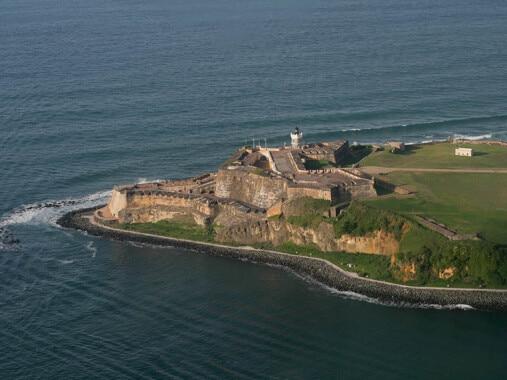 Widok z góry na Castillo de San Felipe del Morro