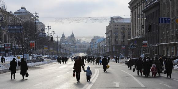 Aleja Chreszczatyk w Kijowie