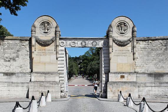 Wejście na cmentarz Père-Lachaise