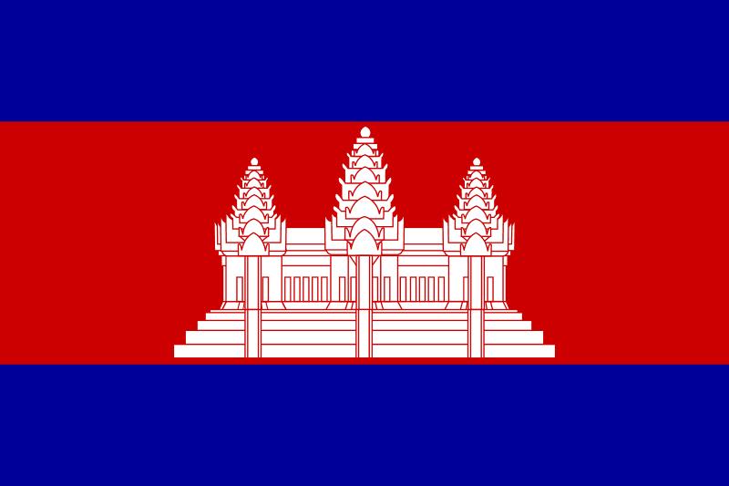 Flaga Kambodży