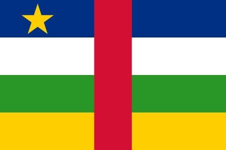 Republika Środkowoafrykańska flaga