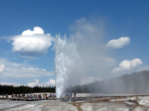 Gejzery w Parku Yellowstone