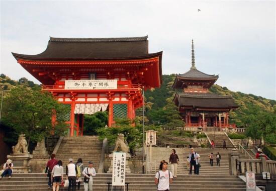 Główne wejście do Kiyomizu-dera