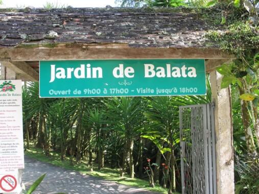 Wejście do Jardin de Balata