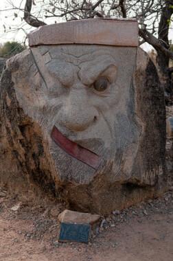 Jedna z prac w parku rzeźb Laongo