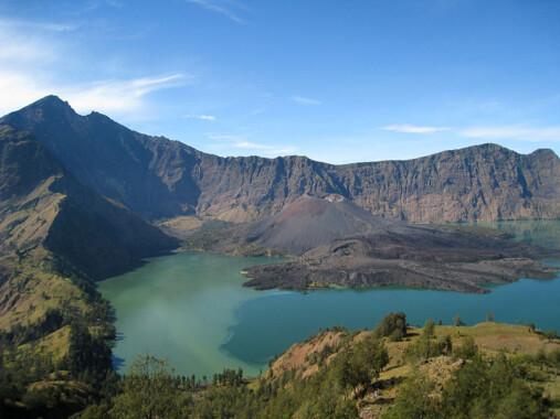 Jezioro Segara Anak w zachodniej części krateru Rinjani