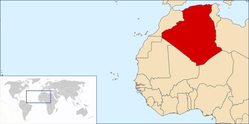Lokalizacja Algierii