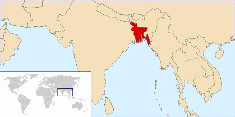 Lokalizacja Bangladeszu