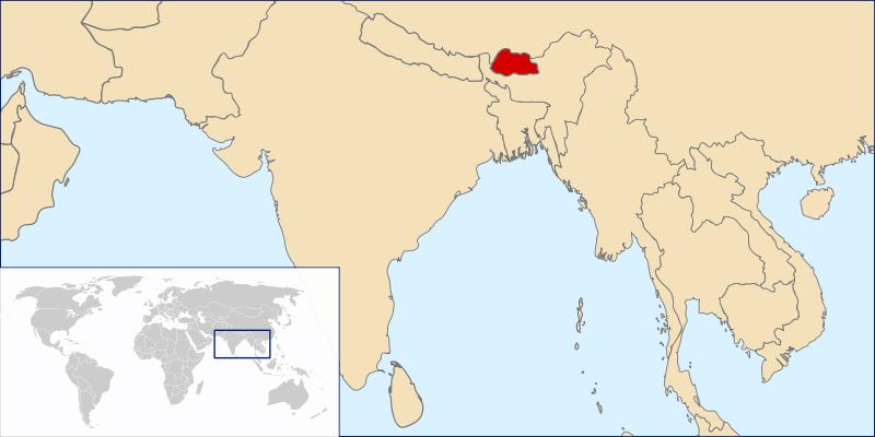 Lokalizacja Bhutanu