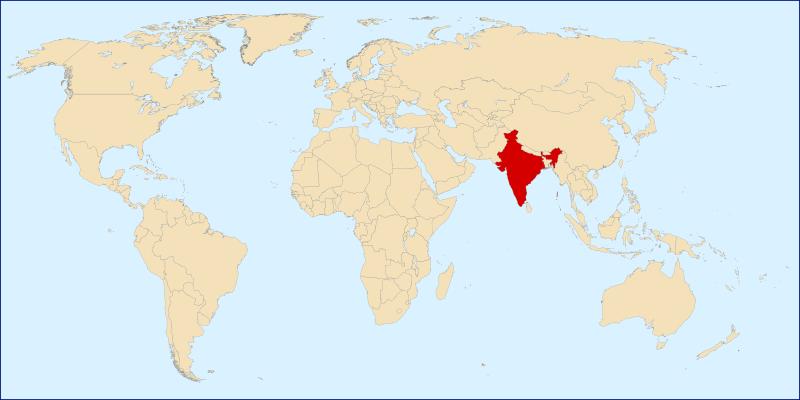 Lokalizacja Indii