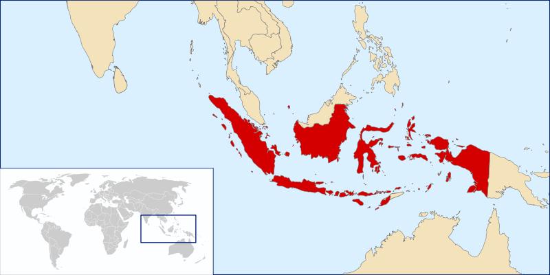 Lokalizacja Indonezji