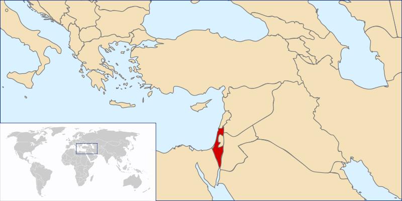 Lokalizacja Izraela