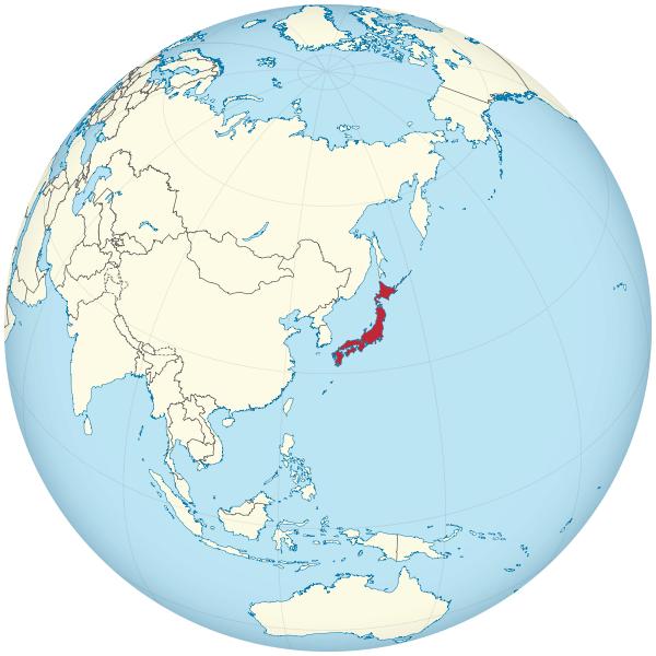Lokalizacja Japonii
