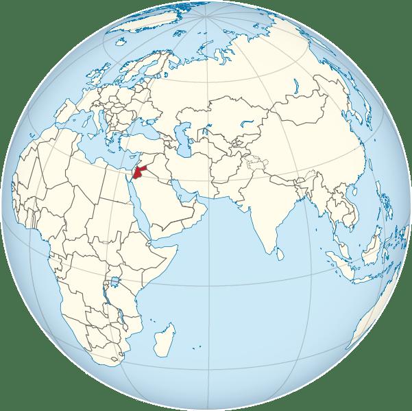 Lokalizacja Jordanii