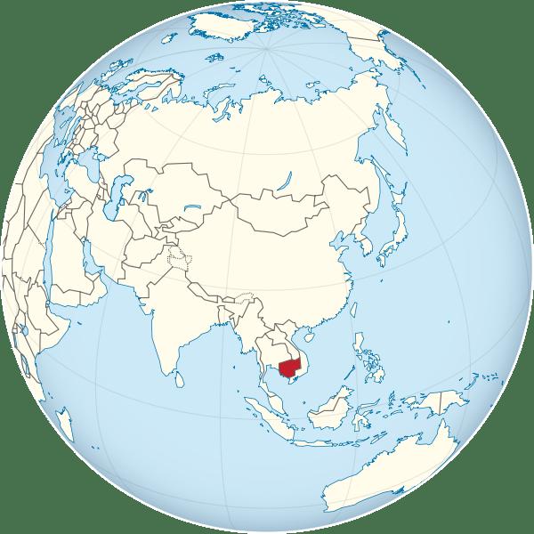 Lokalizacja Kambodży