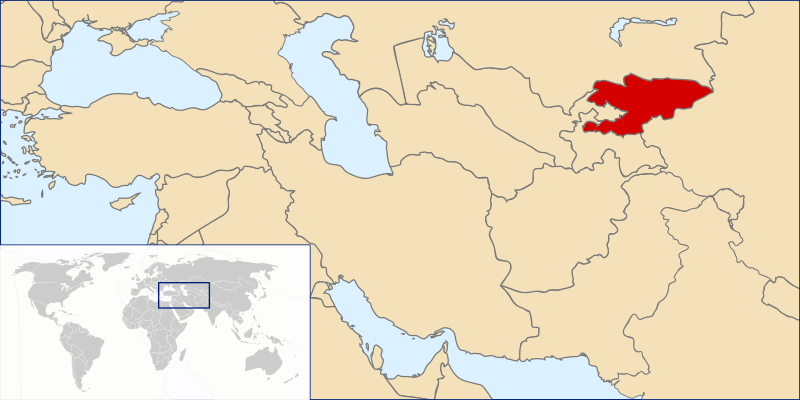 Lokalizacja Kirgistanu