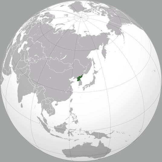 Lokalizacja Korei Północnej