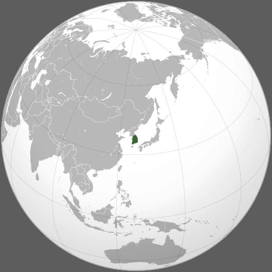 Lokalizacja Korei Południowej