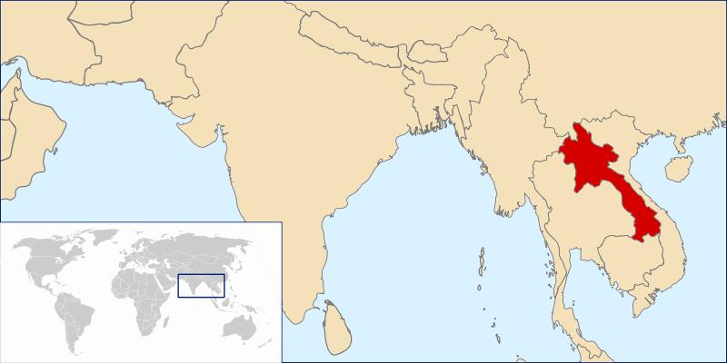 Lokalizacja Laosu