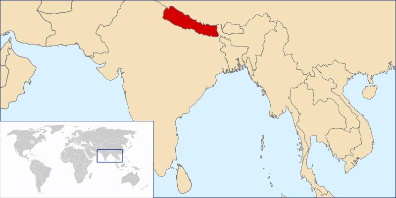 Lokalizacja Nepalu