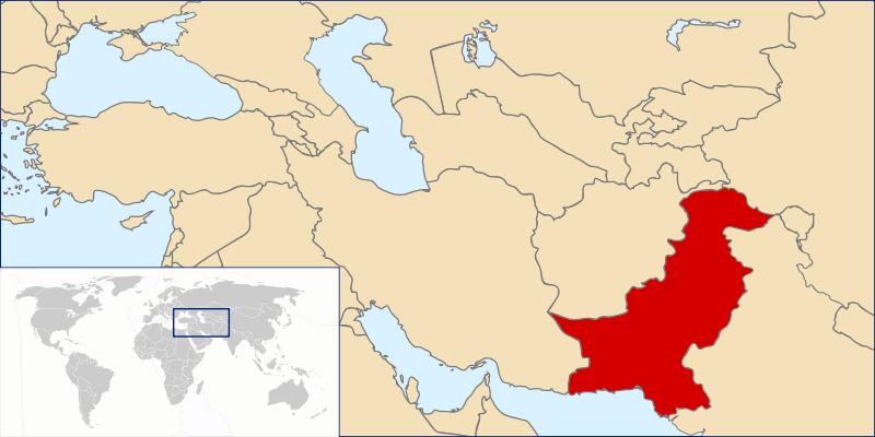 Lokalizacja Pakistanu