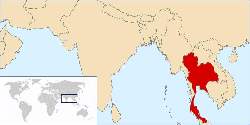 Lokalizacja Tajlandii