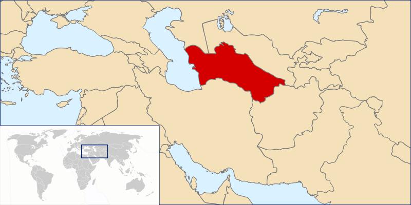 Lokalizacja Turkmenistanu
