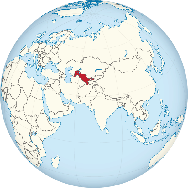 Lokalizacja Uzbekistanu