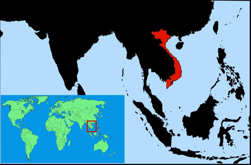 Lokalizacja Wietnamu