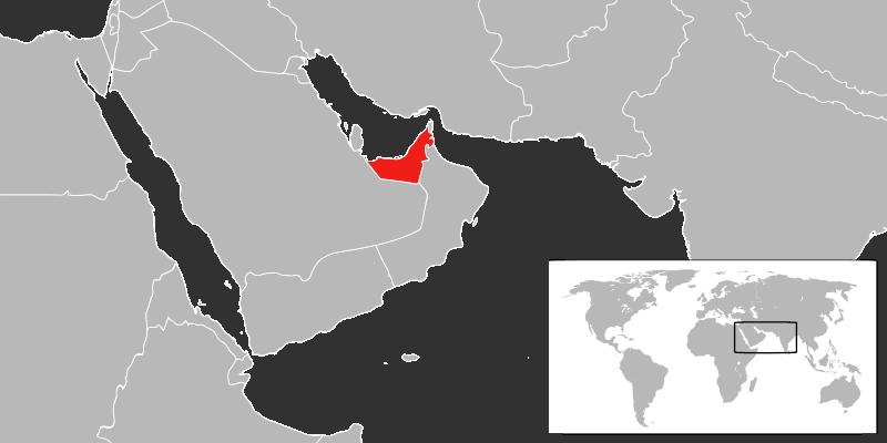 Lokalizacja Zjednoczonych Emiratów Arabskich