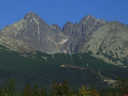 Łomnica, Kieżmarski Szczyt i Huncowski Szczyt, widok od południowo-wschodniej strony