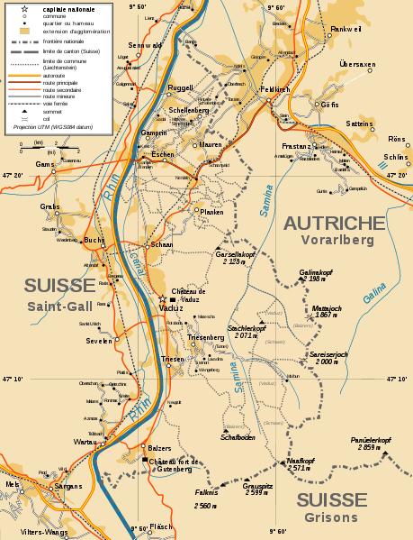 Mapa administracyjna Liechtensteinu