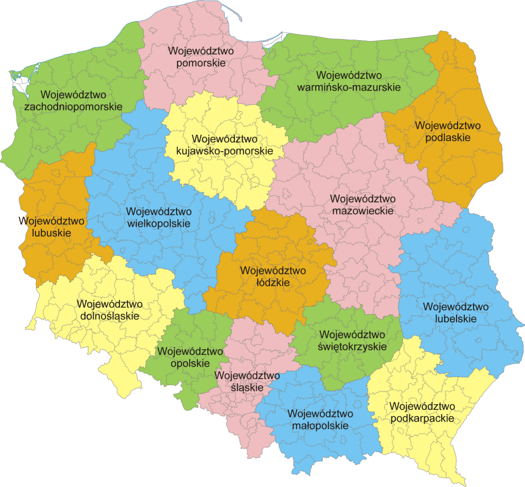 Mapa administracyjna Polski