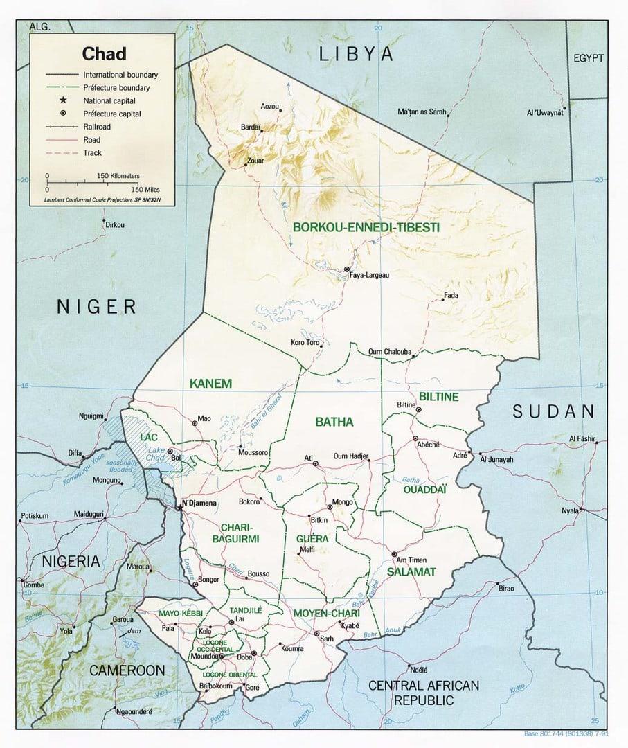 Mapa Czadu