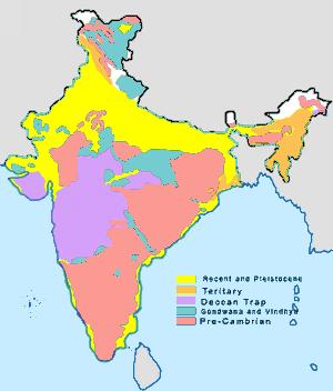 Mapa geologiczna Indii