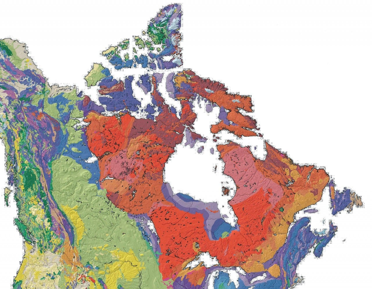 Mapa geologiczna Kanady