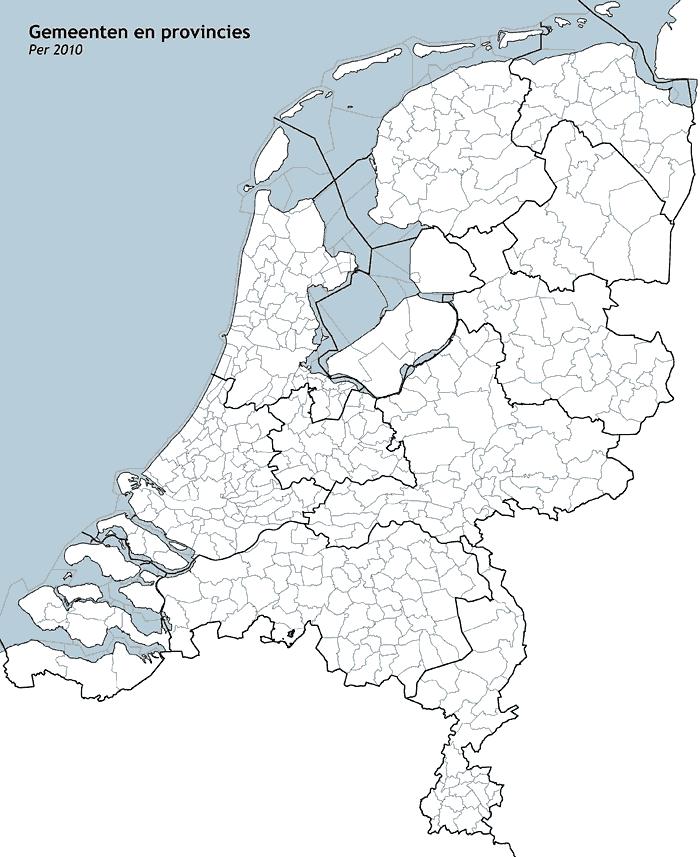 Mapa gminna Holandii