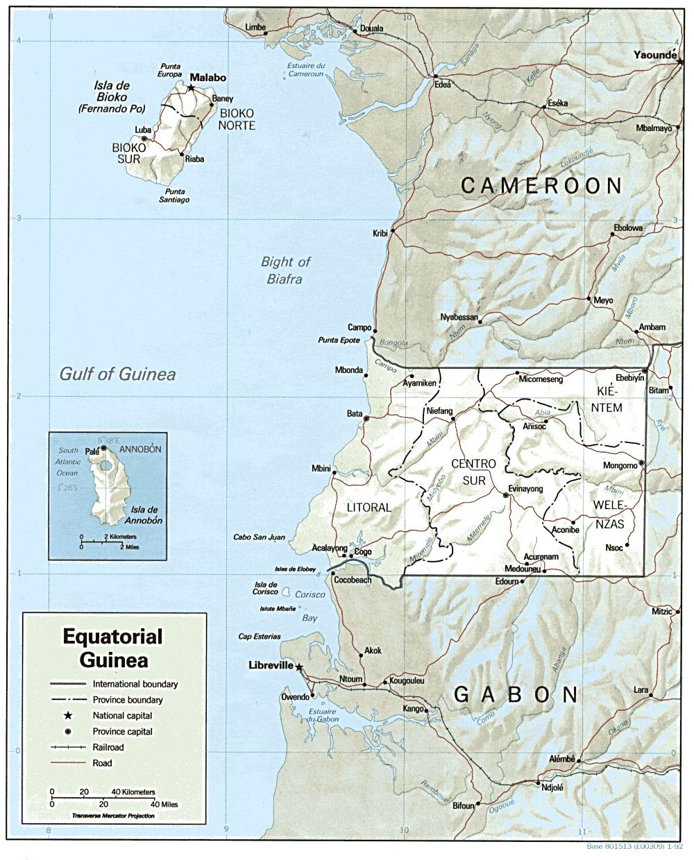 Mapa Gwinei Równikowej