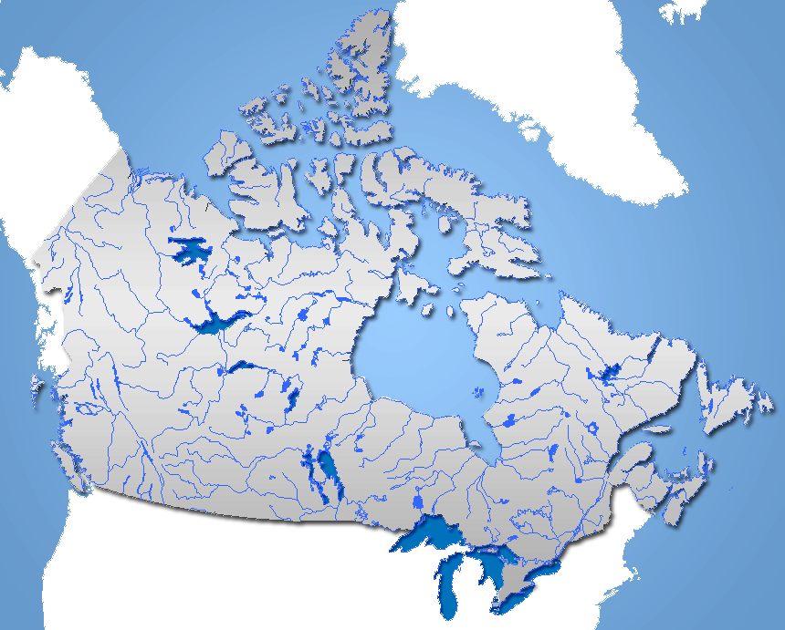 Mapa hydrograficzna Kanady