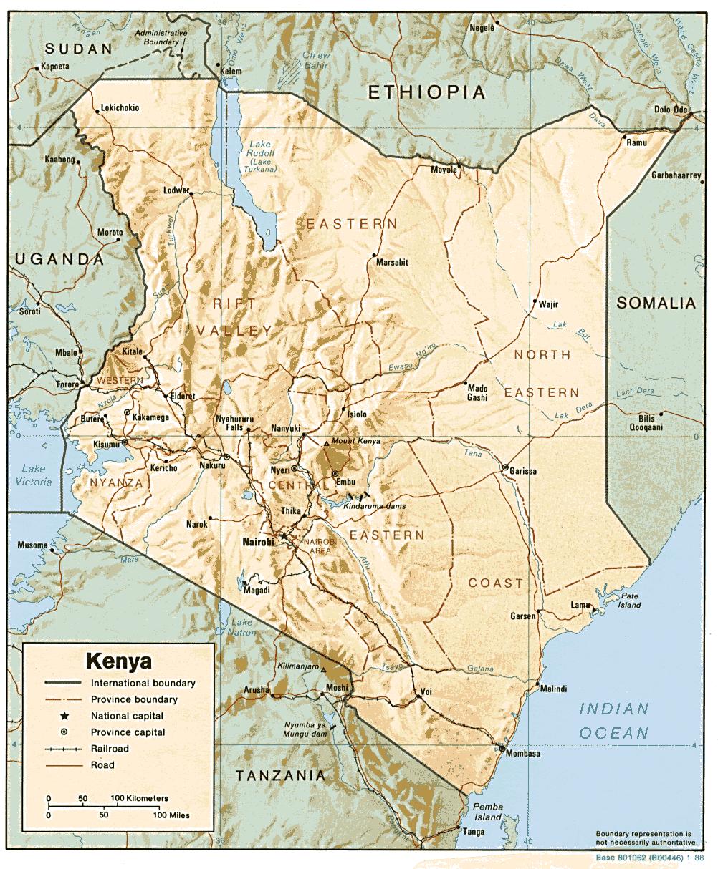 Mapa Kenii