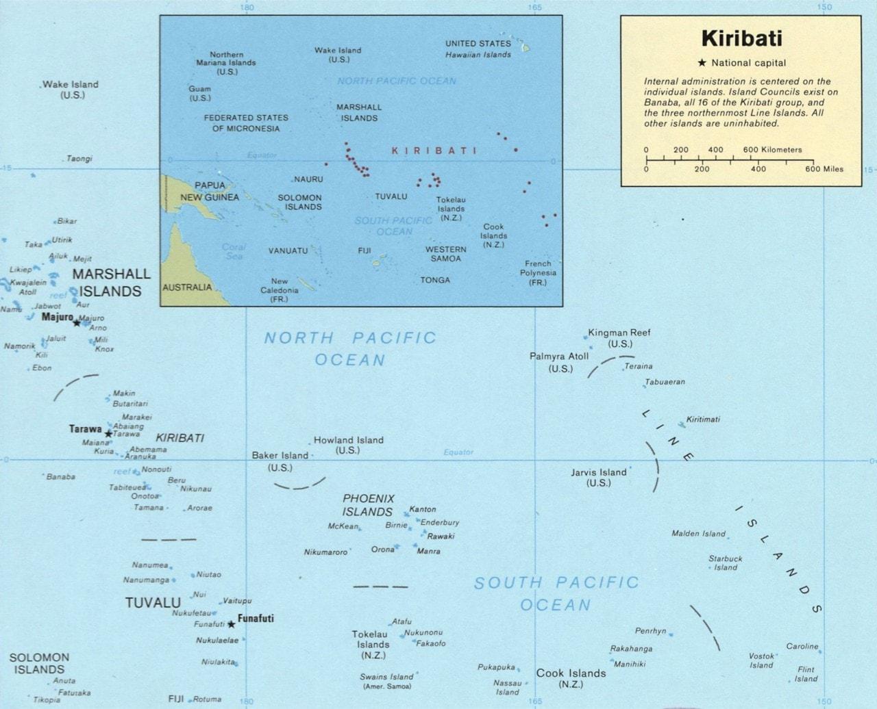 Mapa Kiribati