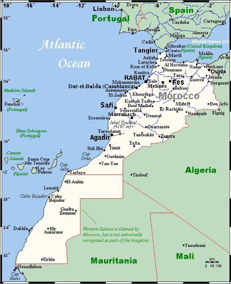 Mapa Maroka