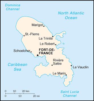 Mapa Martyniki