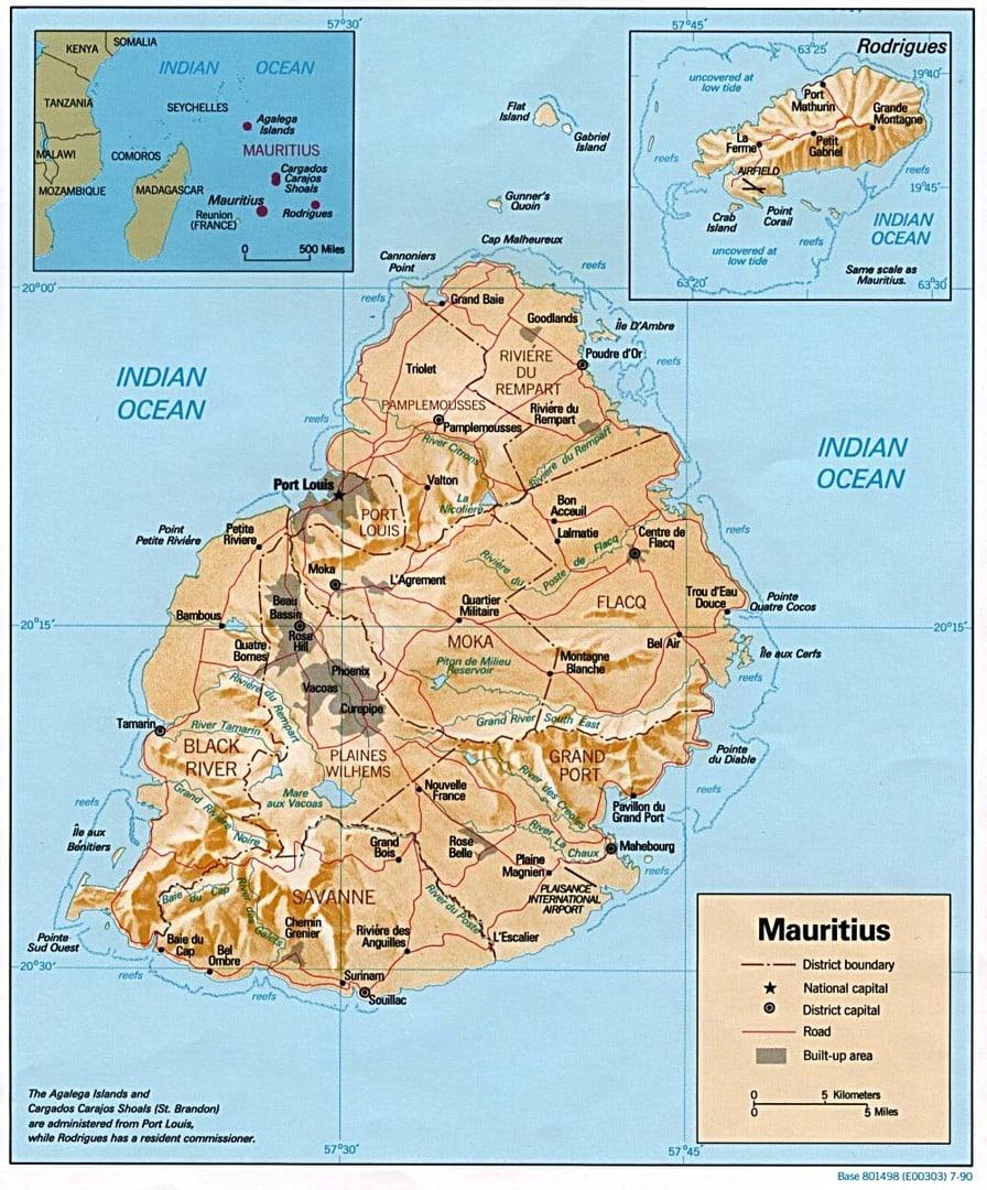 Mapa Mauritiusa