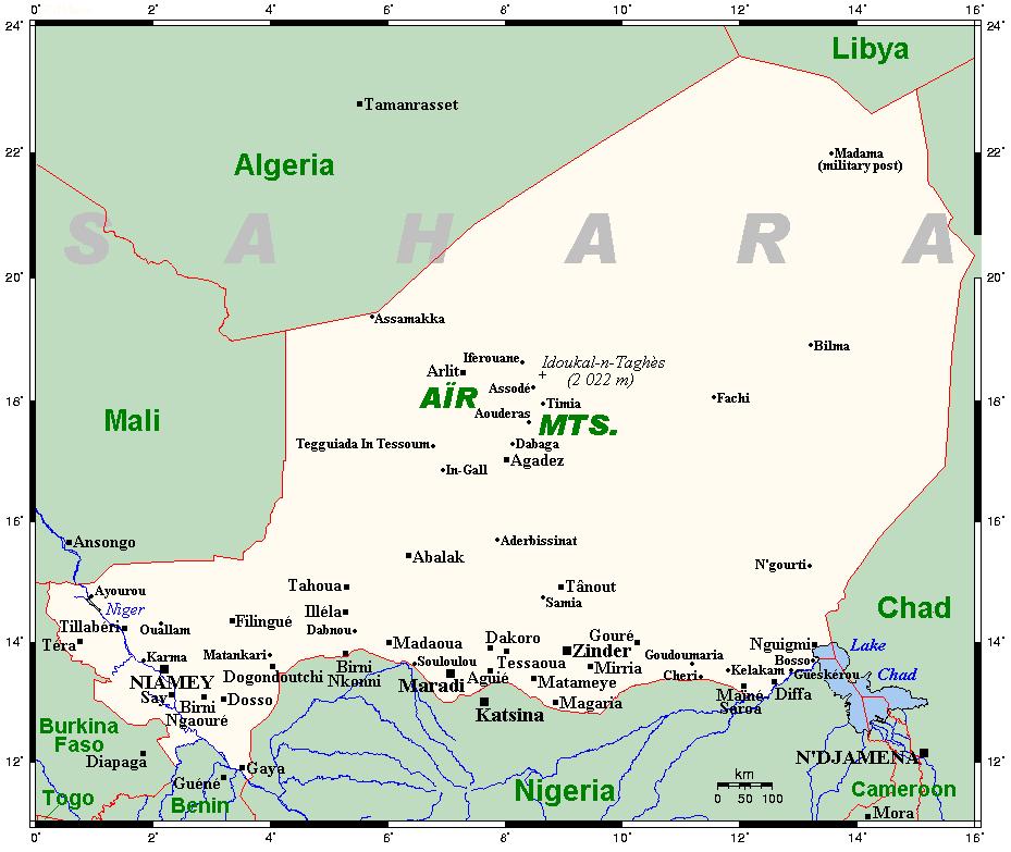 Mapa Nigru