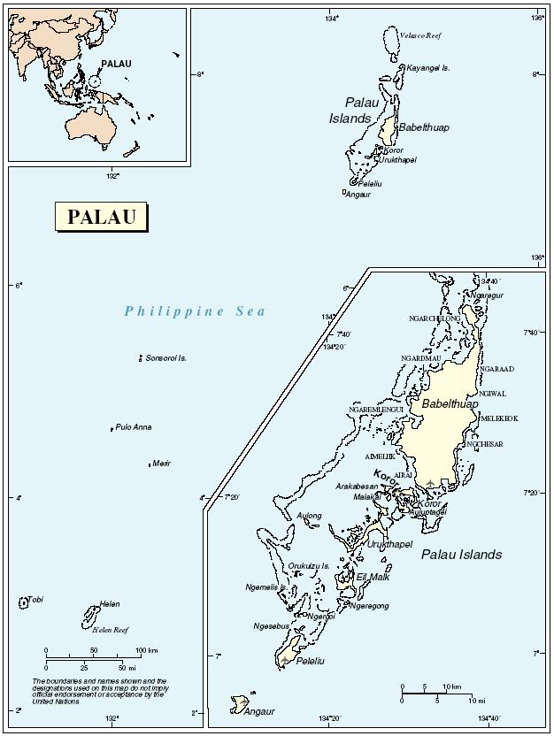 Mapa Palau