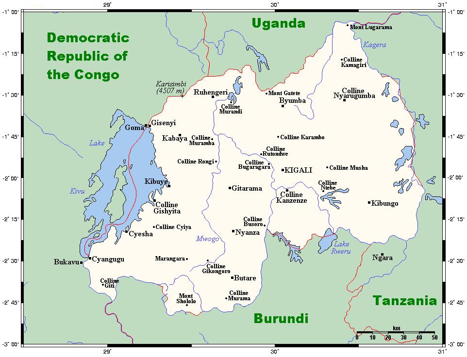 Mapa Rwandy